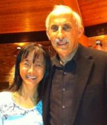 Ocean Lum with Jack Kornfield in 2013.